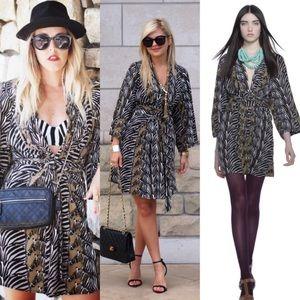Banana Republic Issa Zebra Print Dress Sz 0
